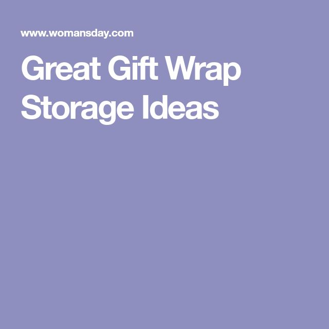 Great Gift Wrap Storage Ideas