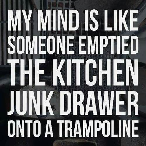 Yes! And there are unicorns bouncing on the trampoline making the junk go everywhere!