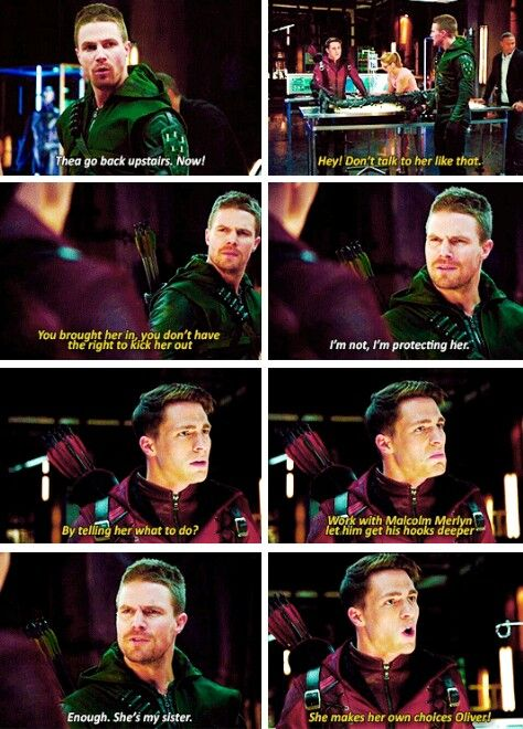 Oliver and Roy #Arrow- I was actually really glad Roy stood up to Oliver. It needed to be said!