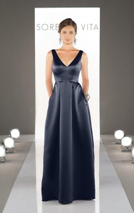 8721 Floor Length Bridesmaid Dresses by Sorella Vita