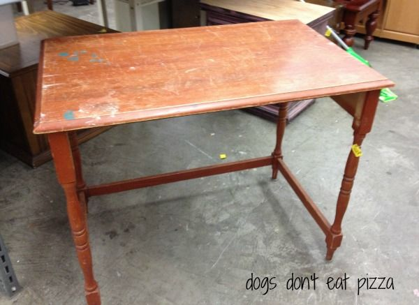 Why to trust your gut when thrift shopping thrift store table now in