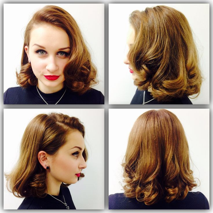 A inspired 1940's look that I created on my lovely model, perfect hair for this look. The way that i created this look was by using heated styling equipment in this first step was a heated wand, I sectioned the hair off into small sections, starting from the underneath layers of hair on the nape of the neck, and working my way through all of the other layers, I curl the hair with the heated wind and create a barrel pin curl and pin a pin curl clip on to either side of the barrel curl! I let…