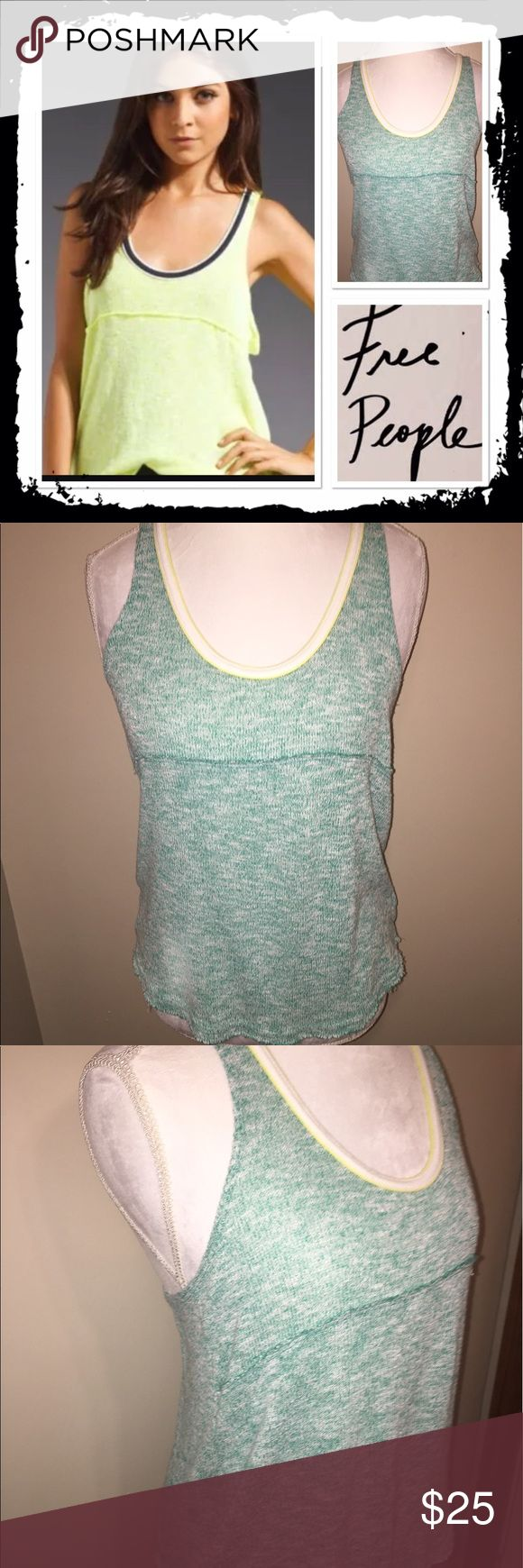 Free People Venice Vibes razorback Like new teal free People we the free razorback tank size s Free People Tops Tank Tops