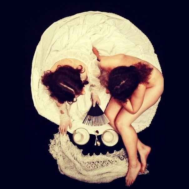 skull or ladies? serge n kozintsev morning tea