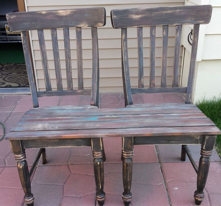 Patio bench made from chairs for Furniture 0 interest