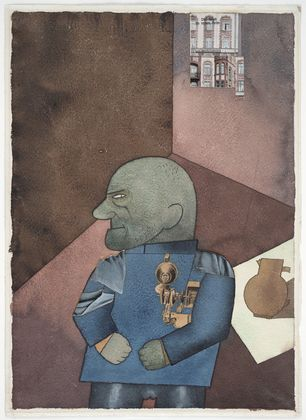 George Grosz, John Heartfield after Franz Jung's Attempt to Get Him Up on His Feet, 1920