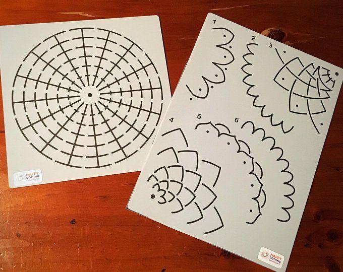 Dot Painting Mandala Kit 9 Dot Painting Tools Stencil Guide And