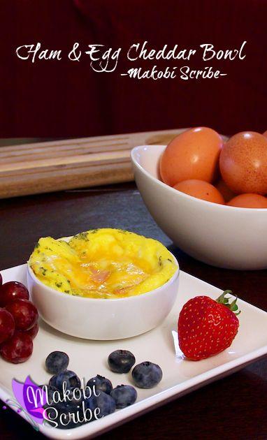 Ham and Egg Cheddar Bowl Recipe #TeamEggs