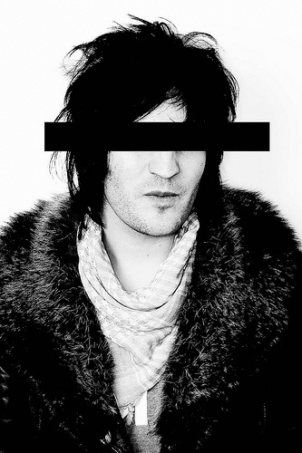 Noel Fielding (b. 1973) is an English surrealist, comedian, actor, artist, DJ and musician. He is known for his role as Vince Noir in The Mighty Boosh, which he co-wrote with comedy partner Julian Barratt, and is a team captain on the music panel show Never Mind the Buzzcocks.