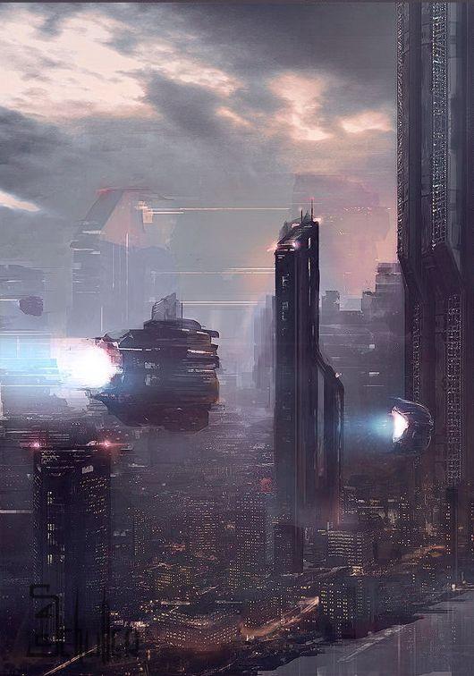 cosmicwolfstorm:  Sci-fi Paris by Pierre-Alexandre Schuller