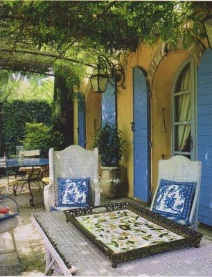 "Living in Provence"" which is full of gorgeous photos of homes and gardens. Coincidentally, I had read the book ""A Year in Provence"" by Peter Mayle while traveling from Australia to the U.S From How Do I Love The Style Blog"
