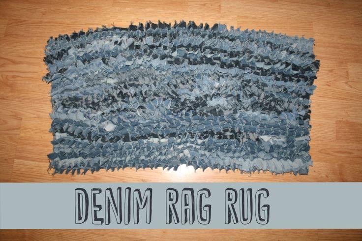 Denim Rag Rug   Thrifty Below