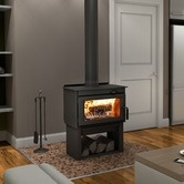 Indoor Woodstove for camp!  Found it at Wayfair - Deco High Efficiency Wood Stove