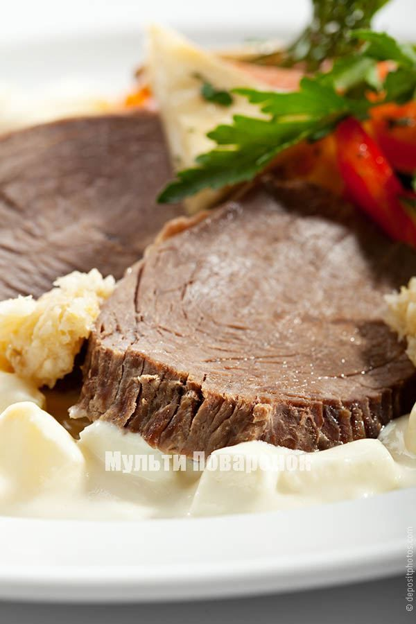 Разварная говядина в мультиварке | Мультиповаренок
