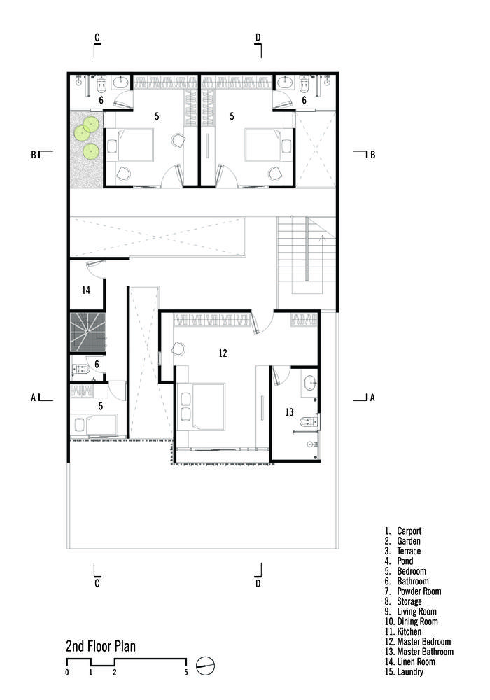 Gallery Of Rumah Beton House Parisauli Arsitek Studio 20 House Layout Plans House Projects Architecture Narrow House Plans