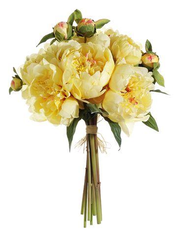 Peony Bouquet in Yellow Cream | Wedding Flowers