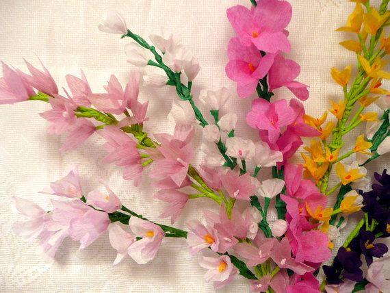 17 migliori immagini su crepe paper flowers others su for Crepe paper wall flowers