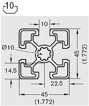 Hafif Sigma Profil 45x45 | TT Hafif Sigma Profil Üretim ve Satış 45mm Hafif Sigma Profilleri | TT Sigma Profil