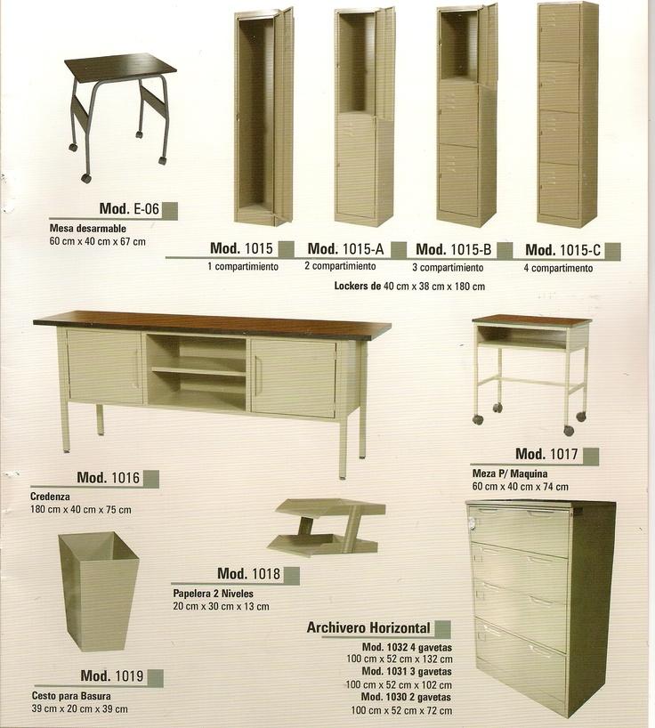 Muebles Metalicos  Muebles de Oficina  Pinterest