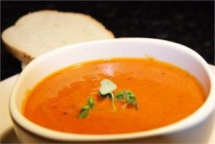 Nigellas TOMATO AND BASIL SOUP, really easy and the kids loved it