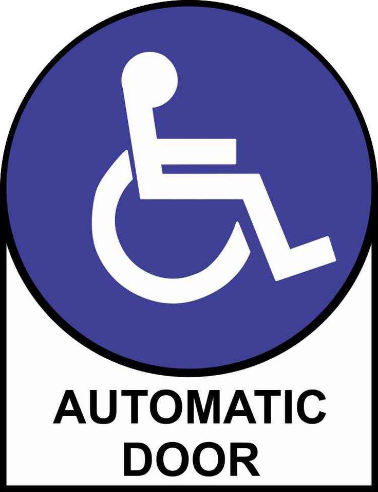 5inx6.5in Handicap Automatic Door Sticker Vinyl Sign Decal Doors Stickers
