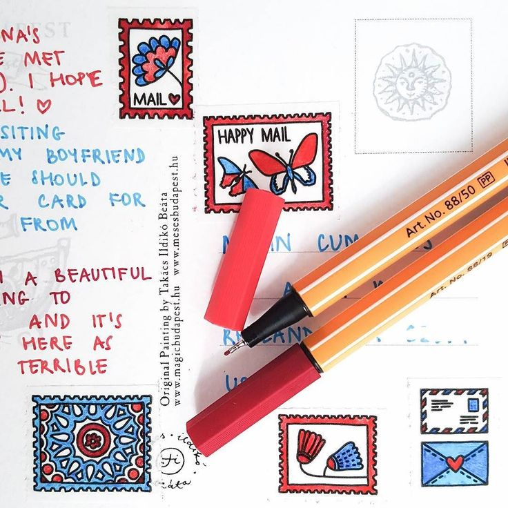 Any other #postcrossing lovers here?  We just came back from Hungary where I took a few little samplers of the coloring tape with me. I couldn't help myself just had to decorate ALL THE THINGS  Here's a shot of one of the many postcards that were sent yesterday   #annagrundulsdesign #coloring #adultcoloring #mailart #snailmail #washilove #washitape