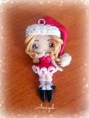 Collana Lady Santa Clous Babbo #Natale #christmas #handmade