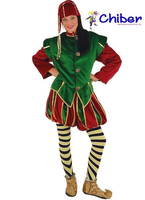 Disfraz de Elfo, Ayudante de Santa o Cartero Real: Los elfos son criaturas de la mitología escandinava y germánica. Representados como hombres y mujeres jóvenes, están concebidos como seres o espíritus poderosos y hermosos.