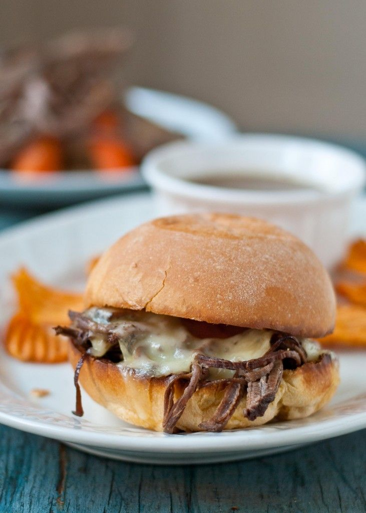 Slow Cooker Recipes Beef including Beef Brisket French Dip, Salsa Verde Beef tacos, Korean beef, beef & broccoli and many more. Top pinned recipes #carbswitch carbswitch.com #HotPinPtr ☺♥☺► Beef Brisket French Dip - consider using grain-free bread