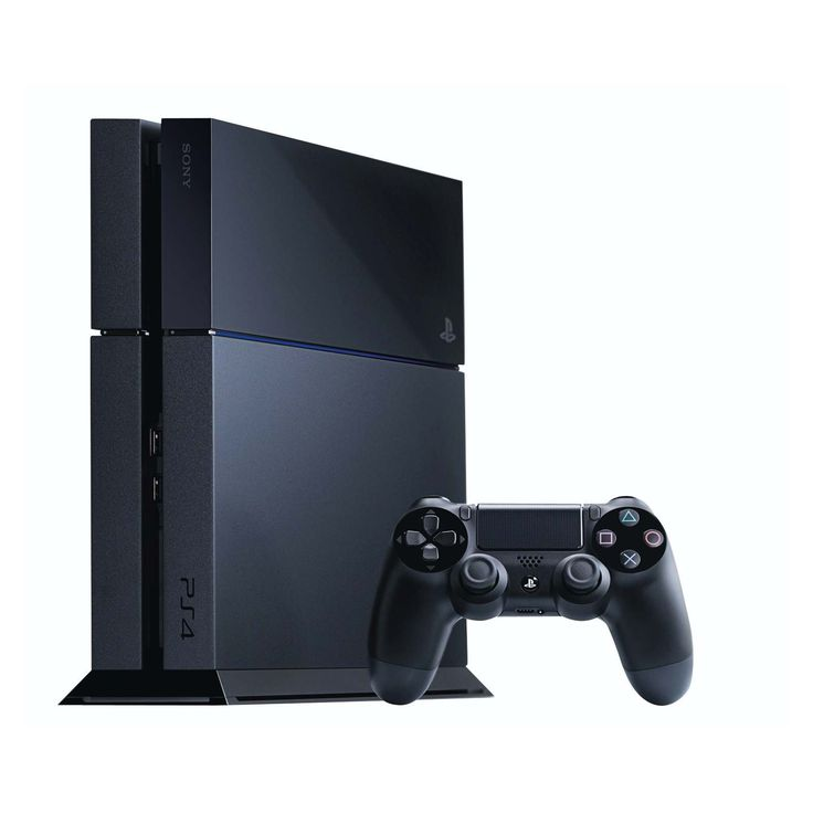 """PS4 - 500GB CONSOLE BLACK -  EXCLUDES VERTICAL STAND  Includes PS4 BloodBorne game. Valid until the 5 April 2015   500GB hard drive - Provides ample storage for games, photos, music and videos. Powerful custom chip - Contains a low power eight core x86-64 AMD """"Jaguar"""" processor and a state-of-the-art 1.84TFLOPS graphics processor with 8GB of ultra-fast GDDR5 unified system memory to ease game creation and increase the richness of achievable content. Curated content - Developed by the console…"""