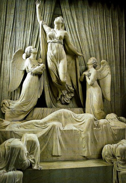 Princess Charlotte Memorial, St George's Chapel, Windsor Castle, daughter of George IV who died in childbirth in 1817. Carved from white marble, it is the work of Matthew Wyatt.