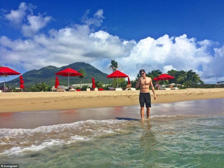 Golden coast: Fourth-generation jewelerDavid Wachler relaxed on the golden beaches of the West Indies, while staying at the Four Seasons Resort in Nevis