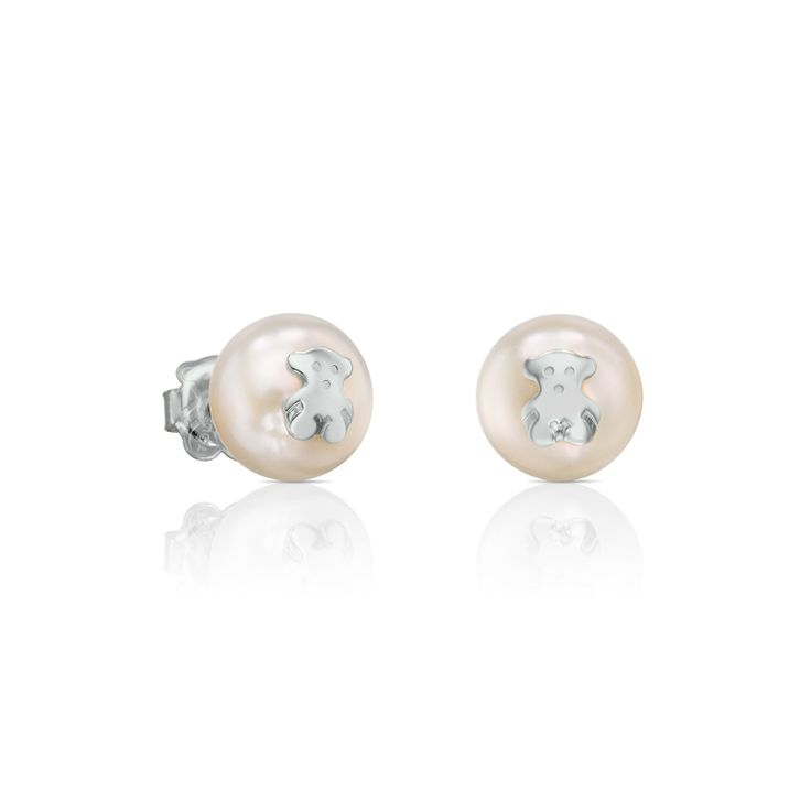 Sterling silver TOUS Pearls earrings with cultured pearls