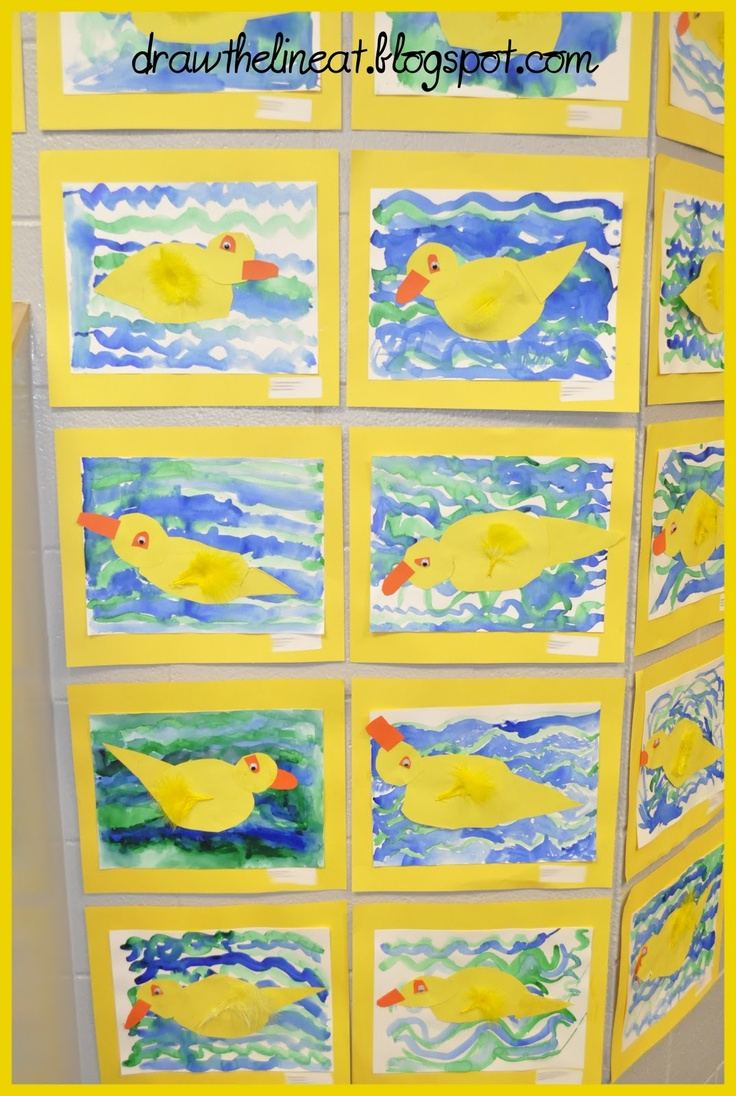 Draw The Line At: Rubber Ducks Kinder lesson