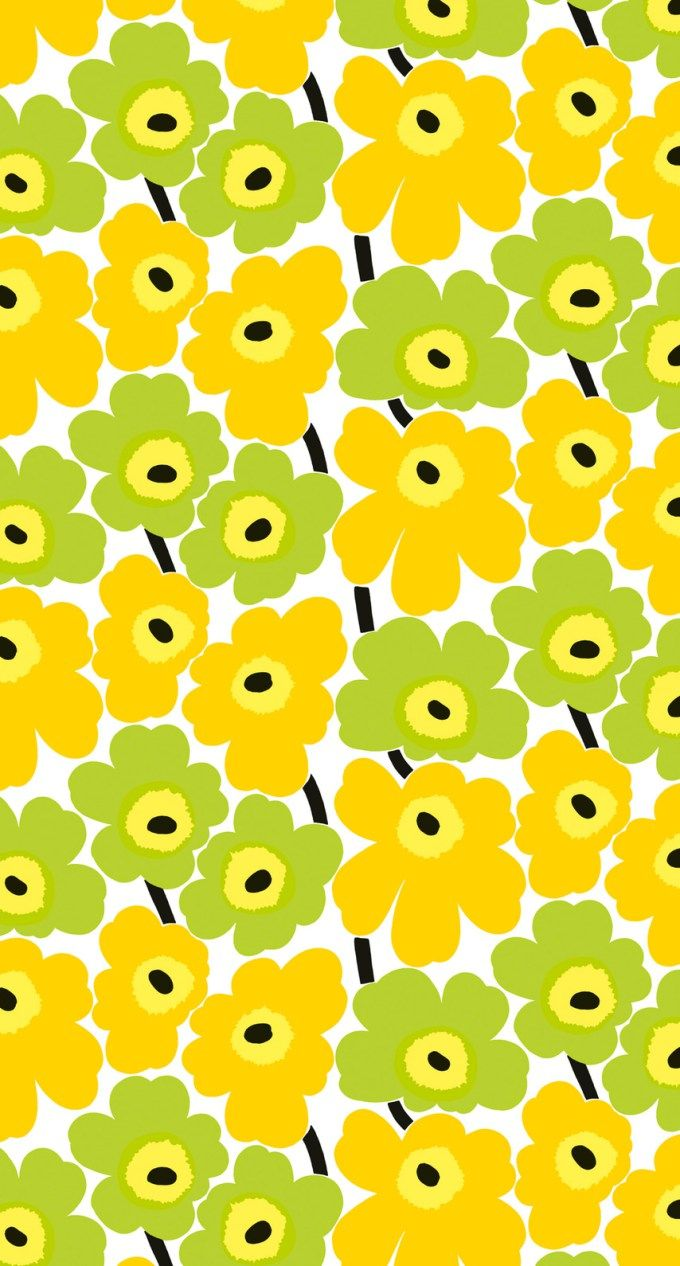 マリメッコ/ウニッコ05 iPhone壁紙 Wallpaper Backgrounds iPhone6/6S and Plus Marimekko Unikko iPhone Wallpaper
