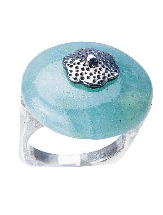 Silver & Aquamarine Ring | onyxgoldsmiths.co.uk #jewellery #summer #rings