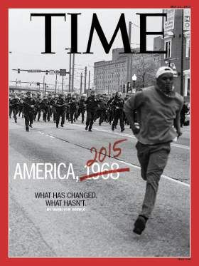 TIME cover, May 11, 2015 | Go Behind TIME's Baltimore Cover With Aspiring Photographer Devin Allen http://time.com/3841077/baltimore-protests-riot-freddie-gray-devin-allen/ #newsdesign #magdesign