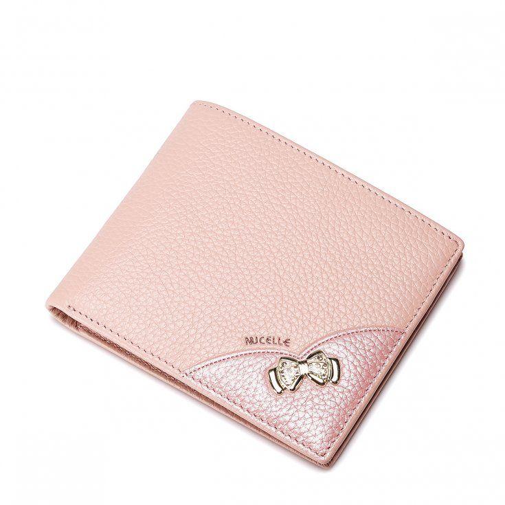 NUCELLE Krótki damski portfel Różowy