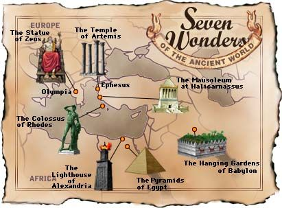 A site with links for the Seven Wonders of The Ancient World - Crystalinks Cycle 1 week 4