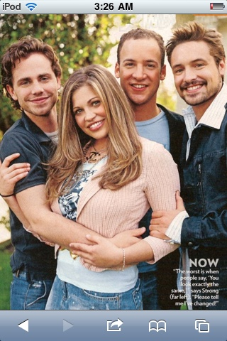 Rider Strong, Danielle Fishel, Ben Savage, and Will Friedle