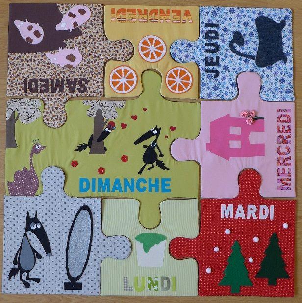 Le tapis du loup qui change de couleurs par Sandrine. - Ma cour de ré-création