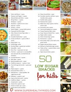 50 Low Sugar Snacks for Kids -- with Pantry Printable! | Healthy Ideas for Kids