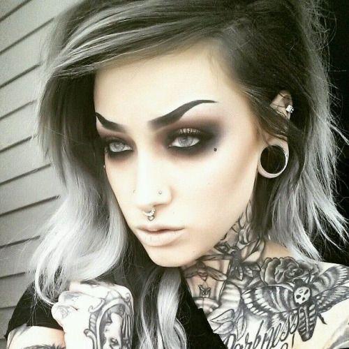 Alt makeup google search makeup pinterest alt for Tattooed eyebrows tumblr