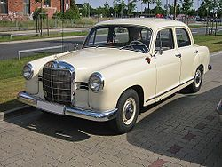 Mercedes 180  French Vanilla color . 4 cylinder, 4speed on the column. Pretty fast car with n emission controls. Gas was .299 then.