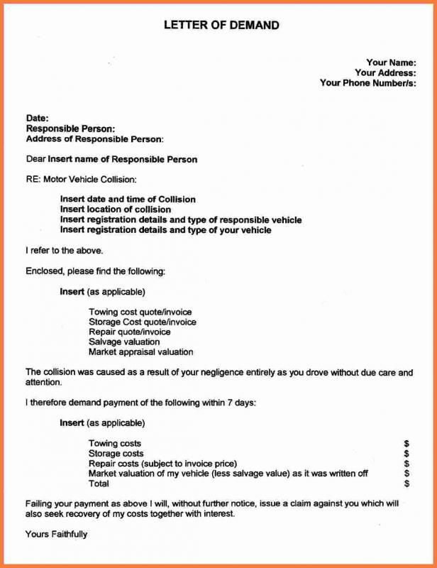 Personal Injury Demand Letter template Letter example, Letter