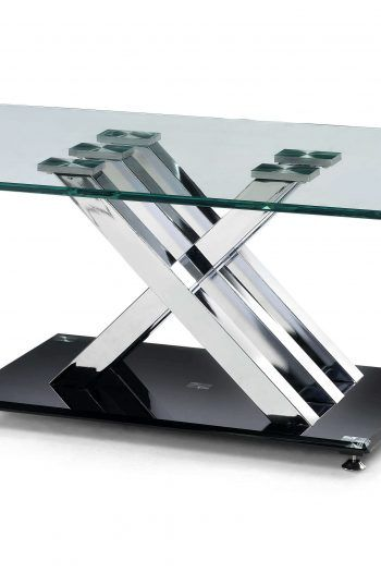 Julian Bowen X Frame Clear Glass Coffee Table 220x330 Great Glass Coffee Tables For The Living Room