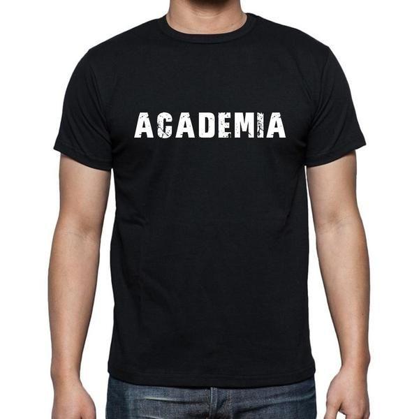 #negro #palabra #camiseta Caminar por la calle en nuestras camisetas como si estuviera en la desfile de moda! Comprar online ->https://www.teeshirtee.com/collections/men-spanish-dictionary-black/products/academia-mens-short-sleeve-rounded-neck-t-shirt