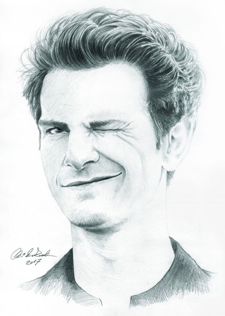 Andrew Garfield portrait - pencil drawing