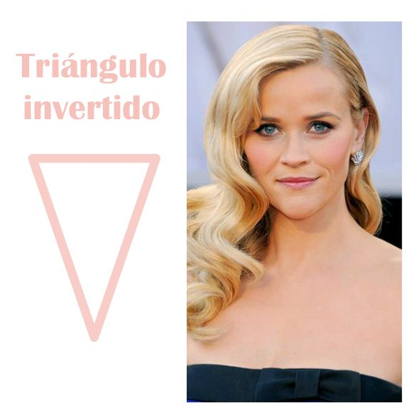Tipos de rostro de mujer, rostro triángulo invertido