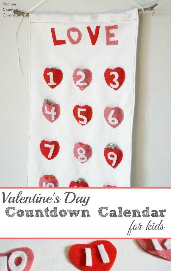 Valentine Calendar Ideas : Best countdown calendar ideas on pinterest present